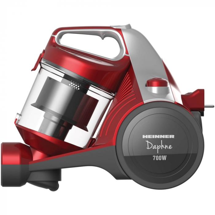Aspirator fara sac Heinner HVC-MC700RD, 700 W, Filtrare ciclonica, Filtru Hepa 12, Rosu 2