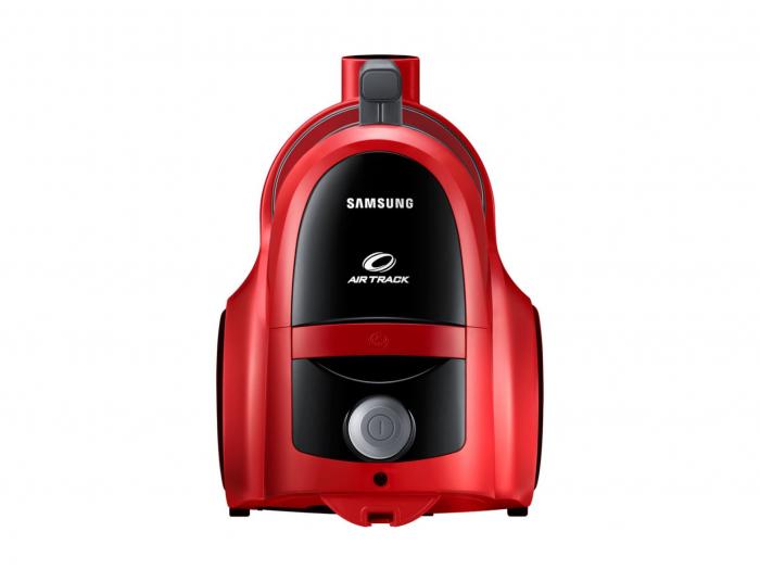 Aspirator fara sac Samsung VCC45T0S3R, 1.3 l, 750 W, Air Track, Tub telescopic, Rosu 2