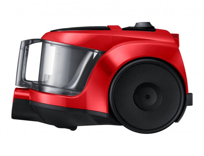 Aspirator fara sac Samsung VCC45T0S3R, 1.3 l, 750 W, Air Track, Tub telescopic, Rosu 4