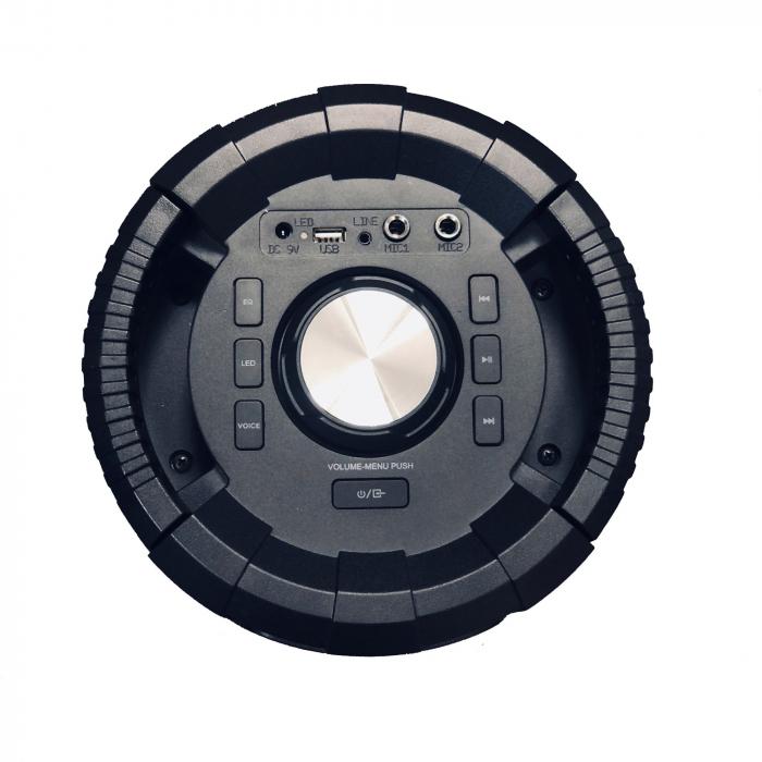 Boxa portabila activa, AKAI ABTS-636, Bluetooth 5.0, 40W, Radio FM 5