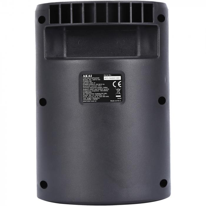 Boxa portabila activa, AKAI ABTS-704, Bluetooth 4.2, Radio FM 3