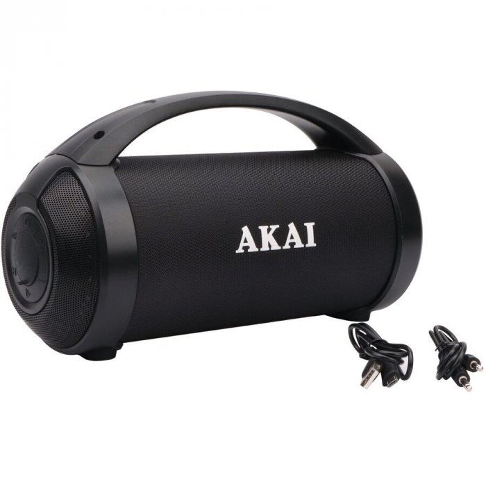 Boxa portabila Akai ABTS-21H, Bluetooth, USB, Aux in, radio FM, lumini difuzor, functie True Wireless Stereo, indicator LED nivel baterie [2]