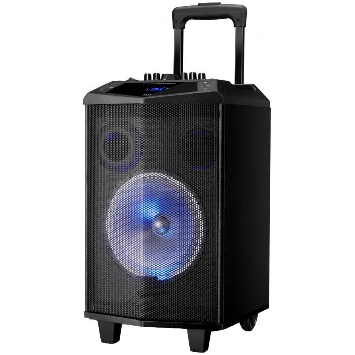 Boxa portabila Akai ABTS-DK15 cu BT, lumini disco, functie inregistrare, microfon 0