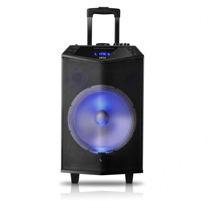 Boxa portabila Akai ABTS-DK15 cu BT, lumini disco, functie inregistrare, microfon 2