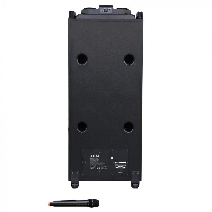 Boxa portabila Akai, ABTS-T1203, 90W, Bluetooth, Karaoke, Radio, Negru 1