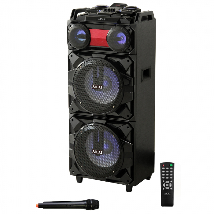 Boxa portabila Akai, ABTS-T1203, 90W, Bluetooth, Karaoke, Radio, Negru 0