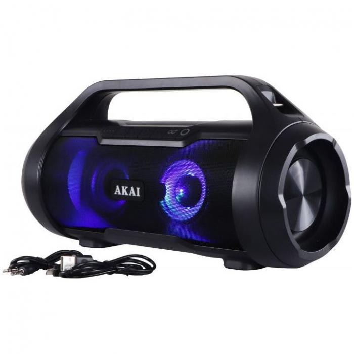 Boxa Portabila, Bluetooth, rezistenta la apa AKAI ABTS-50 , Radio FM , USB ,SD card 11