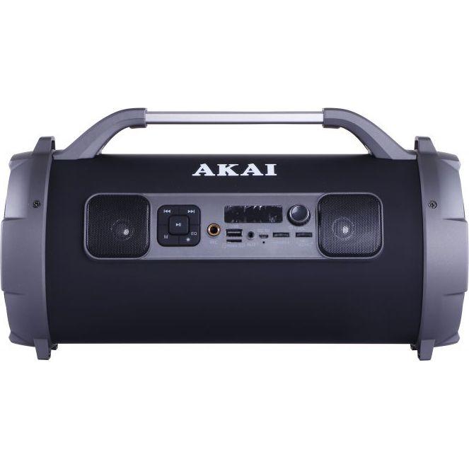 Boxa portabila cu trei difuzoare bazooka AKAI ABTS-13K cu BT , USB, Micro SD card , FM Radio , Aux-in 3.5mm ,Functie Karaoke ,Baterie reincarcabila, Lumini Led , Maner aluminiu 6