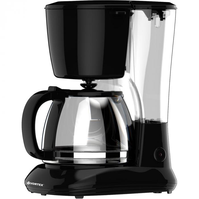 Cafetiera VORTEX VO4012 750 W 1.25 L Negru 0