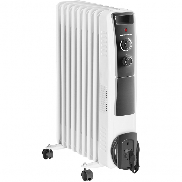 Calorifer electric cu ulei Heinner HOH-Y09WB, 2000 W, 9 elementi, protectie supraincalzire, termostat reglabil, alb 0