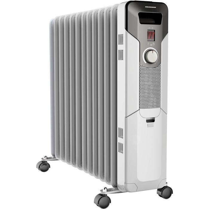 Calorifer electric cu ulei Heinner HOH-Y13S, 2500 W, 13 elementi, protectie supraincalzire, termostat reglabil, alb 0