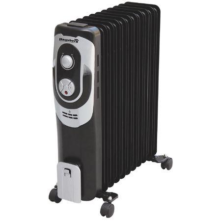 Calorifer electric Hausberg HB 8910, 2000 W, 9 elementi, 3 nivele de putere, termostat reglabil