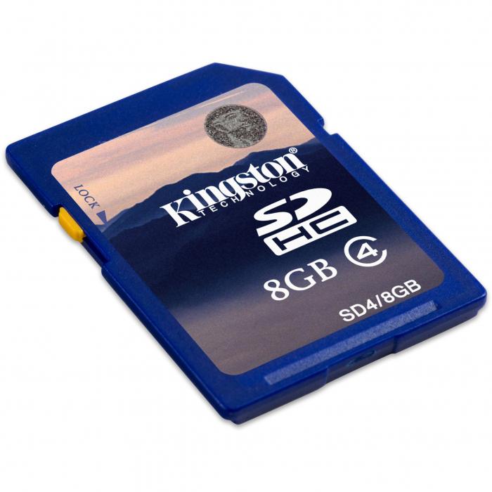 Card de memorie Kingston SDHC, 8GB, Class 4 1