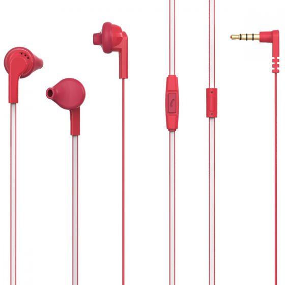 Casti In-ear PSINTM10RD Poss, 1.2m, microfon, jack 3.5mm, Rosu 0