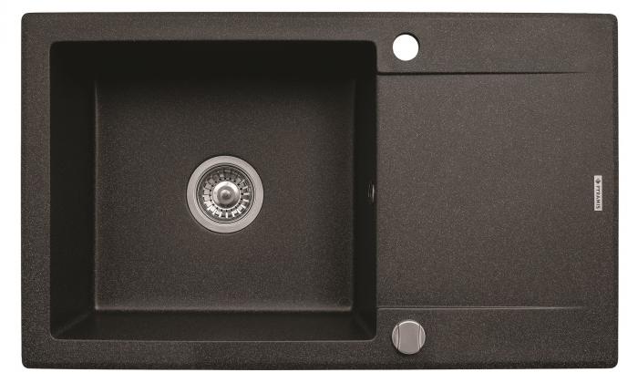 Chiuveta bucatarie KORFU 78x46 1B 1D Black [0]