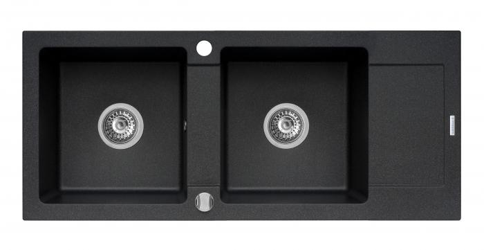 Chiuveta bucatarie Pyramis MIDO 116x50 2B 1D Black [0]