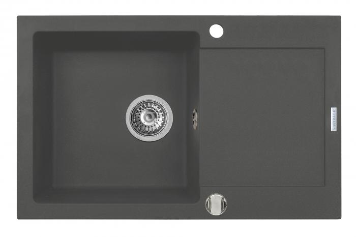 Chiuveta bucatarie Pyramis MIDO 79x50 1B 1D Grey [0]