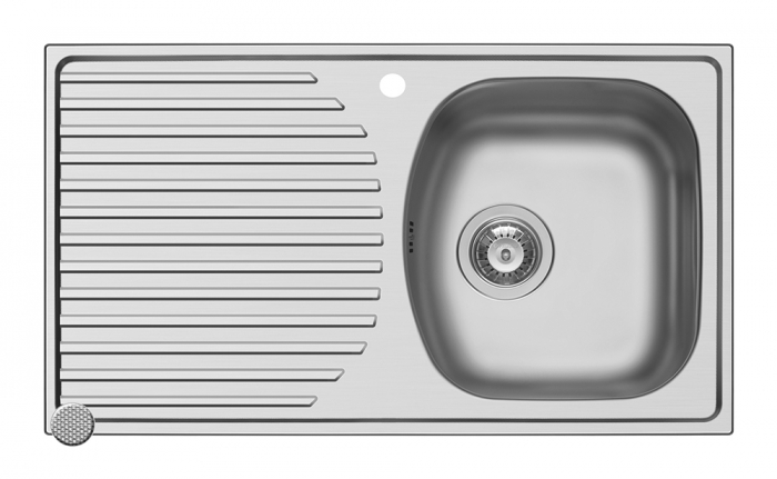 Chiuveta inox Ecoline ASPECT - inox 788mm*448mm DR [0]