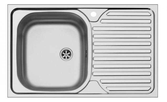 Chiuveta inox Ecoline CORE - inox 800mm*500mm ST [0]