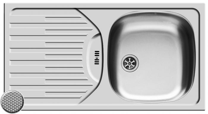 Chiuveta Inox ET78 Fork 780mm*435mm DR [0]