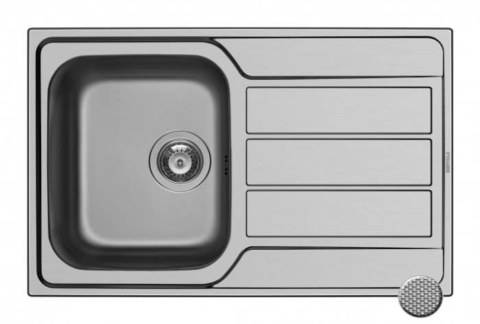 Chiuveta Inox Pyramis ATHENA 790mm*500mm [0]