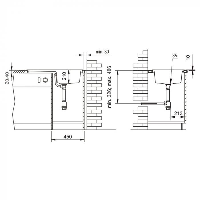 Chiuveta soft compozit Pyramis SIERRA Durothek 1B 1D DR [2]