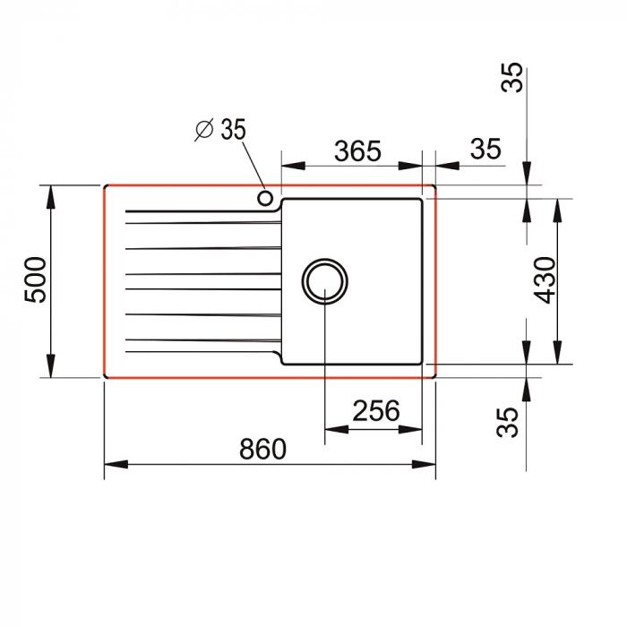 Chiuveta soft compozit Pyramis SIERRA Durothek 1B 1D DR [3]