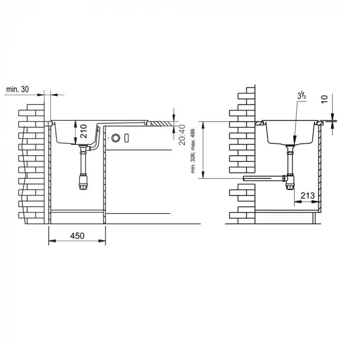 Chiuveta soft compozit Pyramis SIERRA Durothek 1B 1D ST [2]