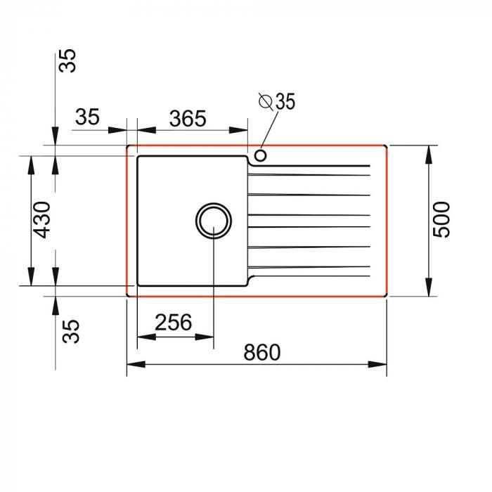 Chiuveta soft compozit Pyramis SIERRA Durothek 1B 1D ST [3]