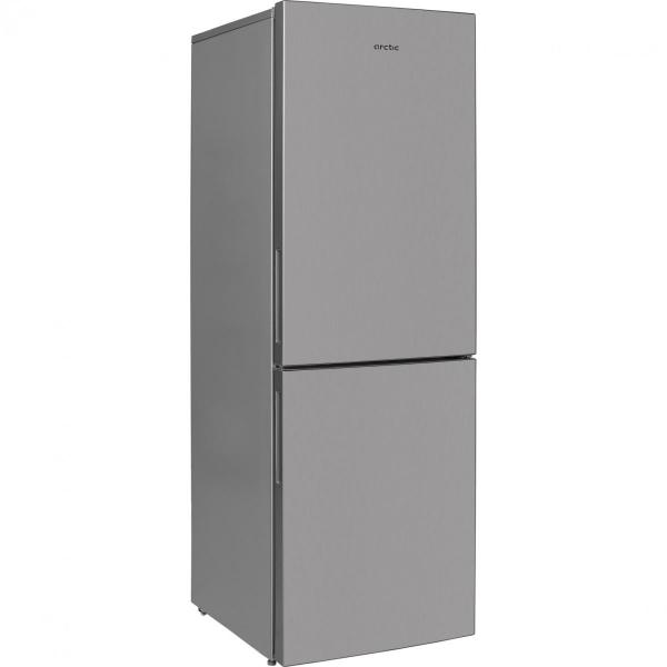 Combina frigorifica Arctic AK60340NFMT+, Full No Frost, 302 l, A+, Garden Fresh, H 175.4 cm, Metal Look