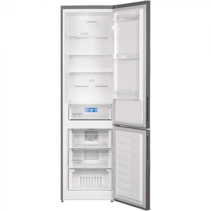 Combina frigorifica Arctic AK60406E40NFMT, 362 l, NoFrost, Display, Air Flow, Clasa E, H 202 cm, Argintiu [1]