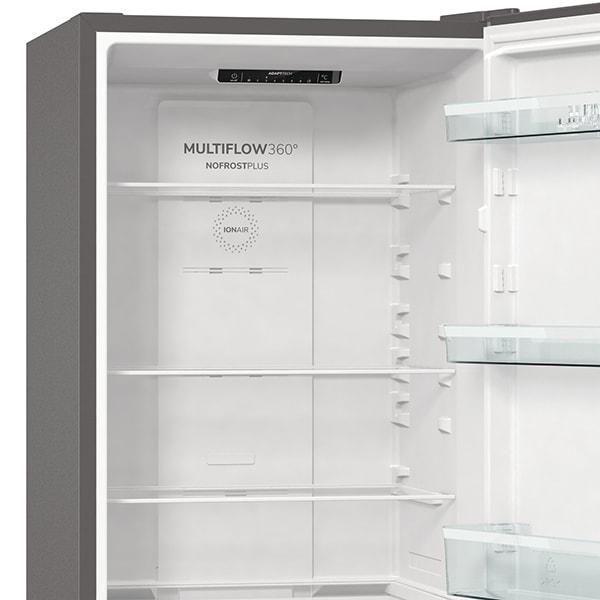 Combina frigorifica GORENJE NRK6191ES4, No Frost Plus, 302 l, H 185 cm, Clasa A+, argintiu [6]