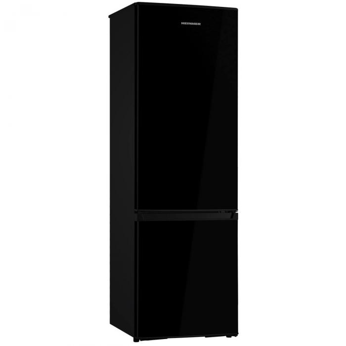 Combina frigorifica Heinner HC-H273BKF+, 264 l, Clasa A+, Iluminare LED, Control mecanic Termostat ajustabil, H 176 cm, Negru 0