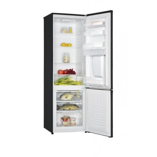Combina frigorifica Heinner HC-H273BKWDF+, 260 l, Clasa A+, Dozator de apa, Iluminare LED, Control mecanic, Termostat ajustabil, H 176 cm, Negru 1