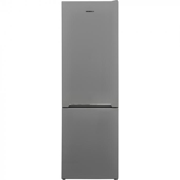 Combina frigorifica Heinner HC-V268SF+, 268 l, Clasa F, Iluminare LED, Control mecanic, Termostat ajustabil, Argintiu [0]