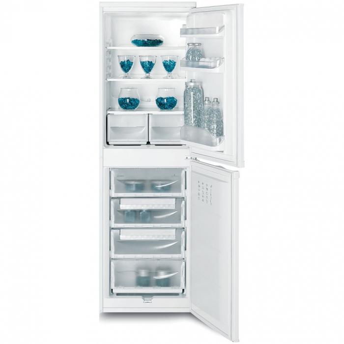Combina frigorifica Indesit CAA 55, 234 l, Clasa A+, H 174 cm, Alb 1