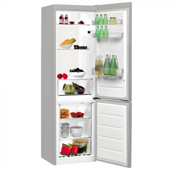 Combina frigorifica Indesit LI7S1ES, 308 l, Clasa F, Fast cooling, Less frost, Fresh box, H 176 cm, Argintiu [1]