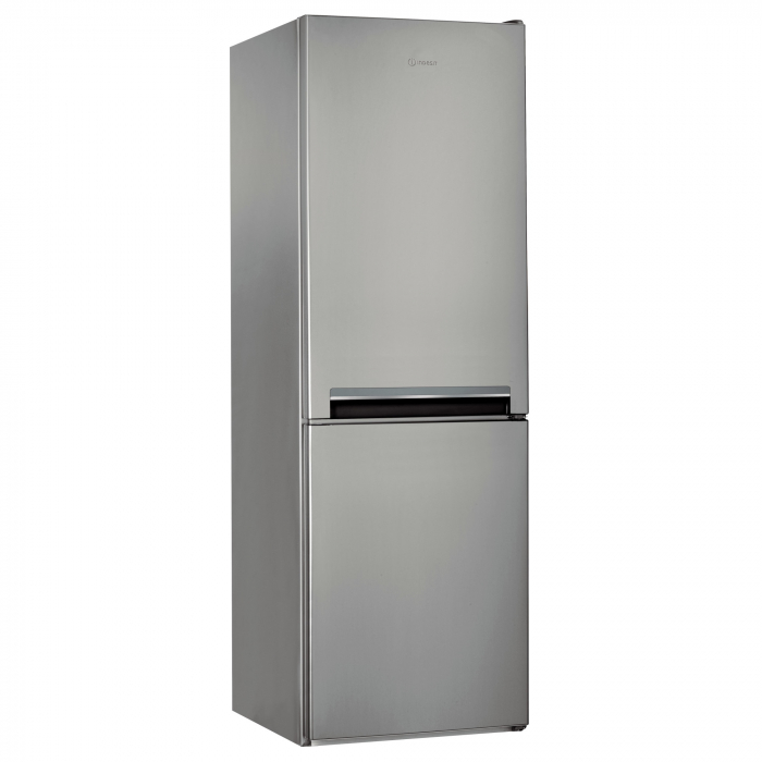 Combina frigorifica Indesit LI7S1ES, 308 l, Clasa F, Fast cooling, Less frost, Fresh box, H 176 cm, Argintiu [0]