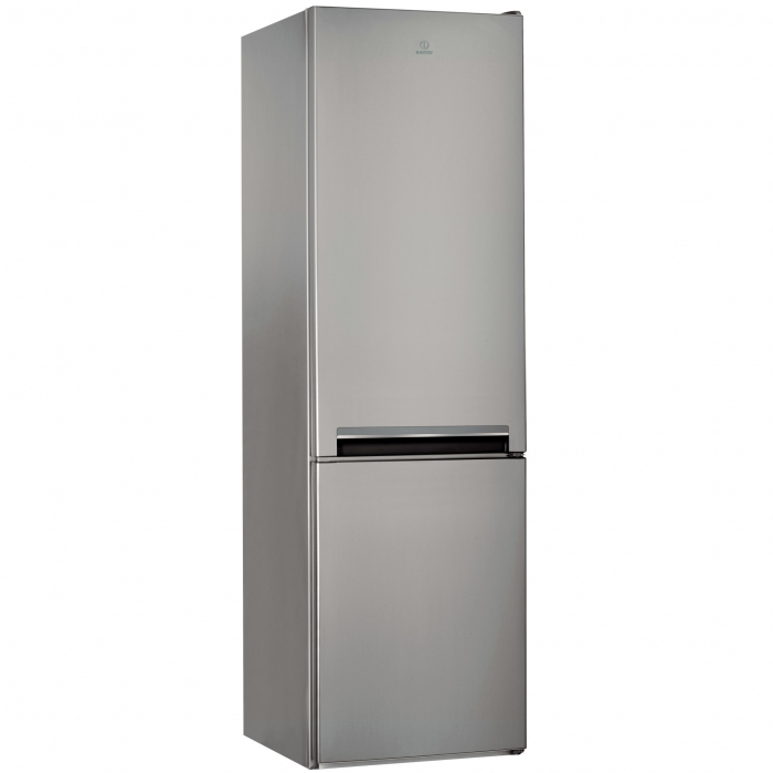 Combina frigorifica Indesit LI9S1ES, 372 l, Clasa F, Fast cooling, Less Frost, H 201 cm, Argintiu [0]