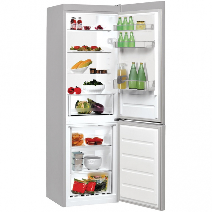 Combina frigorifica Indesit LR8 S1 S, 339 l, Clasa A+, H 187 cm, Silver 1