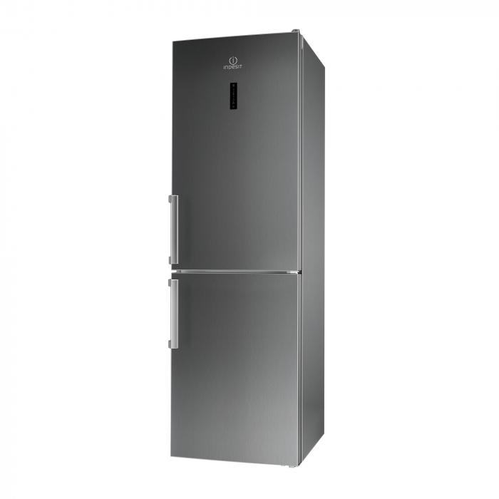 Combina frigorifica Indesit XI9 T2Y X B H, No Frost, 368 l, Clasa A++, H 201, Inox 0