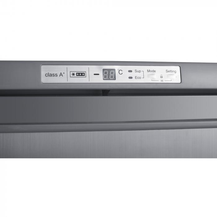 Congelator Heinner HFF-180NHXF+, 163 l, Clasa A+, 6 sertare, Control electronic, H 143 cm, Argintiu 3