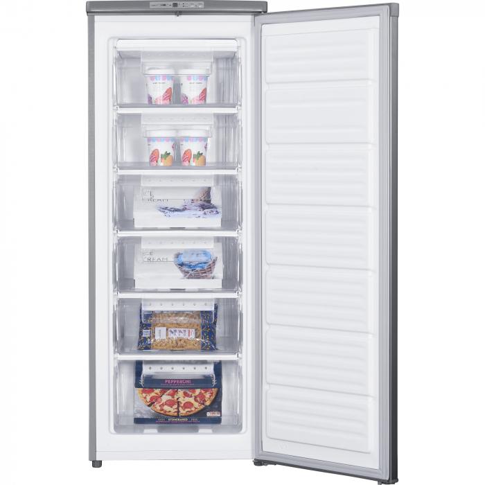 Congelator Heinner HFF-180NHXF+, 163 l, Clasa A+, 6 sertare, Control electronic, H 143 cm, Argintiu 2