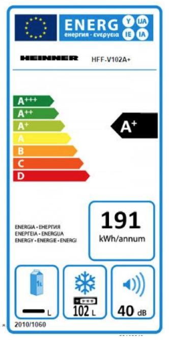 Congelator Heinner HFF-V102A+, Control Mecanic Al Temperaturii, Alb 2