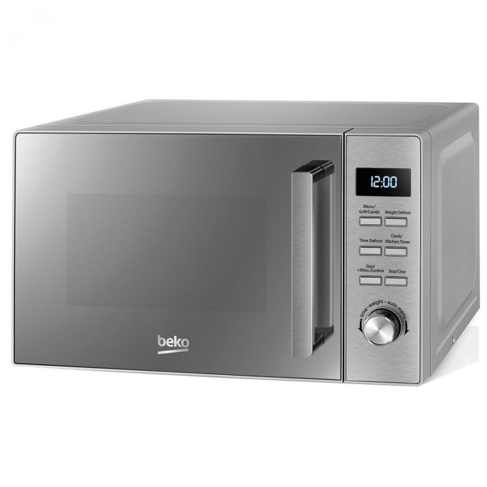 Cuptor cu microunde Beko MGF20210X, 20 l, 800W, Electronic, Grill, Inox 5