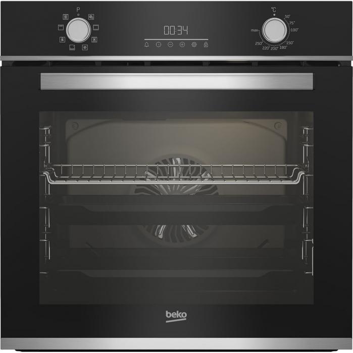 Cuptor incorporabil Beko BBIM13300XM, Electric, 72 l, Autocuratare catalitica, Display touch control, SteamShine Cleaning, Grill, 3D Cooking, Clasa A, Sticla neagra 0