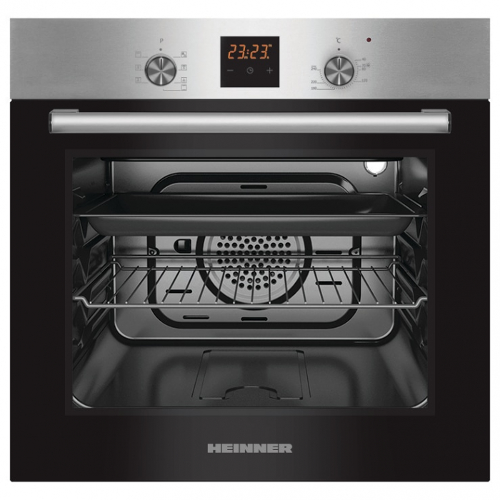 Cuptor incorporabil Heinner HBO-S567LDTGC-IX, Electric, 56 l, Mutifunctional, 7 Functii, Grill, Display Touch, Clasa A, Inox 0