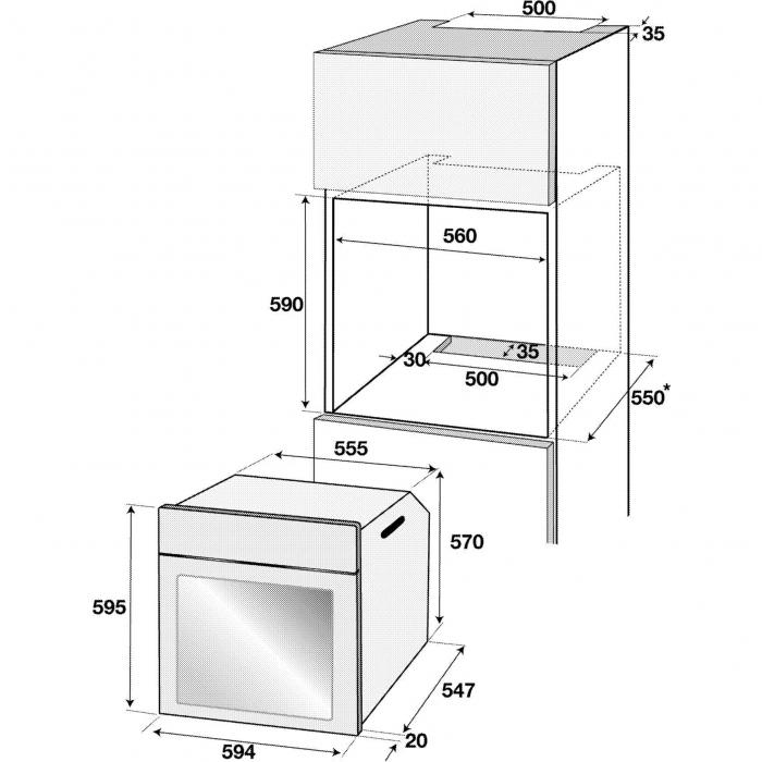 Cuptor incorporabil rustic Beko OIM27201C, Electric, 71 l, Clasa A, Grill, Gatire 3D, Crem 2