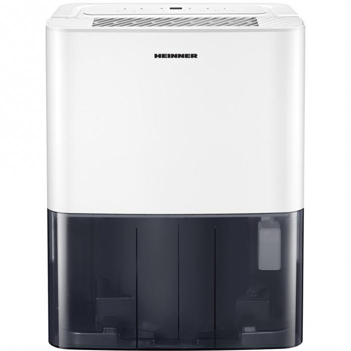 Dezumidificator Heinner HDU-M10, 10L/24h, control electronic, auto-restart, auto-oscilare, auto-dezghetare, timer 24h, 2.1L, maner, alb 3