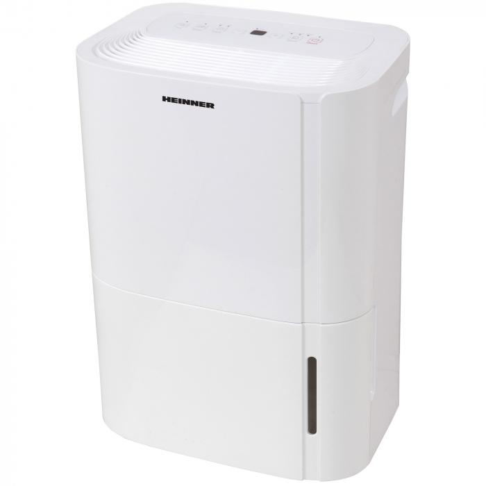 Dezumidificator Heinner HDU-M20, 20L/24h, control electronic, auto-restart, timer 24h, 3L, alb 1